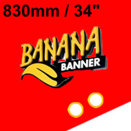 Red Banner 34 inch