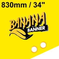 Yellow Banner 34 inch