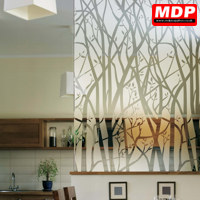 gallery of forest etched with decorative window film - Window Film Decorative