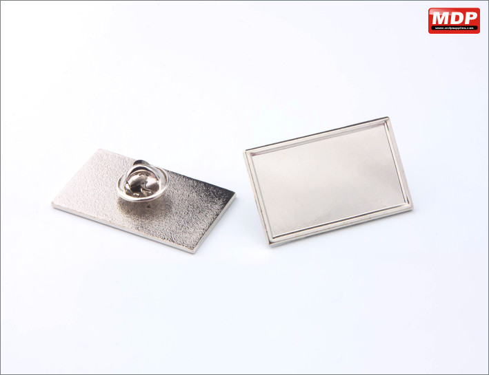 Rectangle 33x20mm - Silver