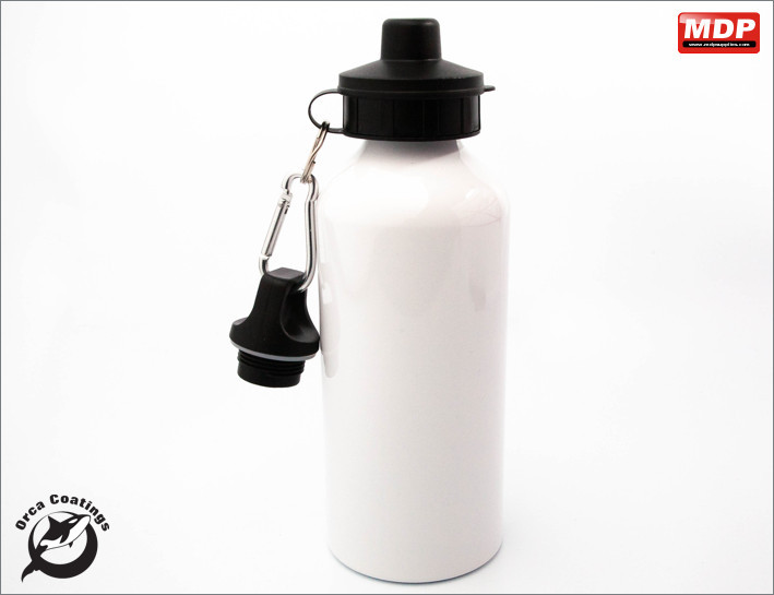 Water Bottle White 600ml - Single