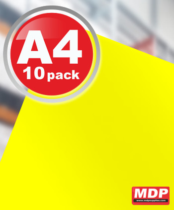 Laser Printable Vivid Yellow Matt A4 - 10 Pack