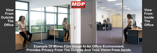 Mdp Supplies Privacy One Way Mirror Film