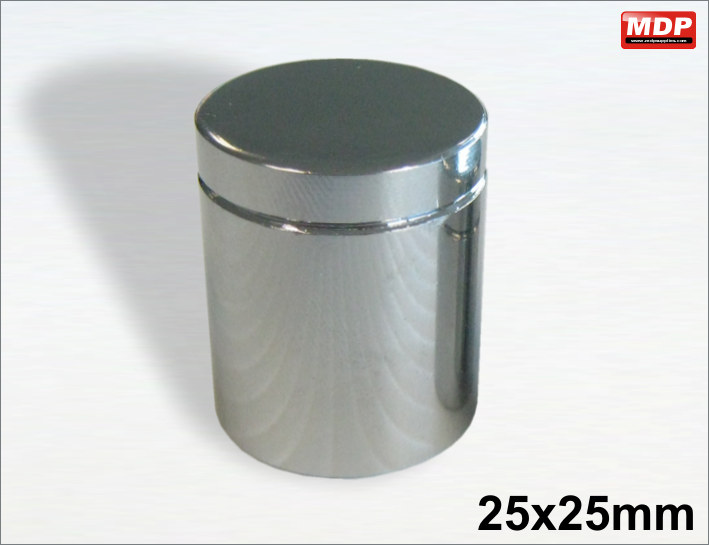 25x25mm Chrome