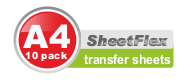 Transfer Sheets (10 Pack A4)
